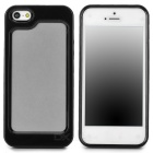 Stylish Protective Plastic + TPU Bumper Frame Case for Iphone 5 - Black