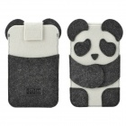 Cute BUBM Panda Style Protective Felt Fabric Case for Iphone 4 / 5 / 5s / 5c - White + Black