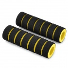 Sponge Non-Slip Handlebar Grip Covers for Bicycle - Yellow