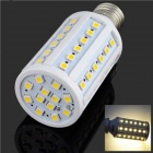 E27 10W 1000lm 3200K 60-SMD 5050 LED Warm White Light Lamp Bulb - White + Silver (AC 200~265V)