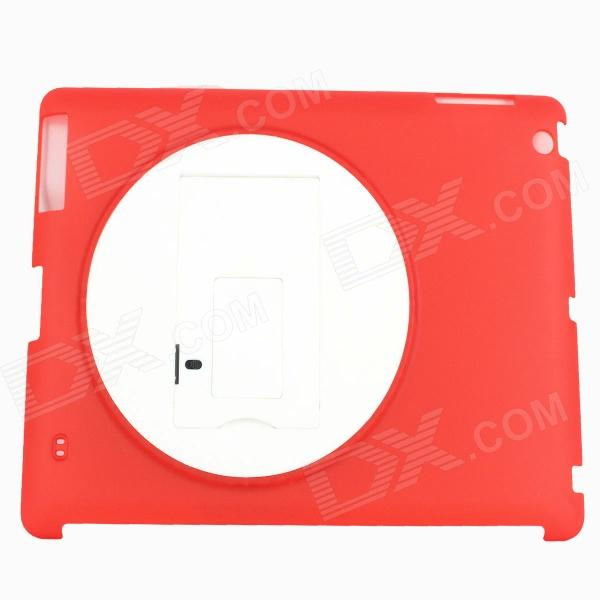 Protective PC Back Case Stand Holder for Ipad 4 - Red + White boxwave huawei g6310 bamboo natural panel stand premium bamboo real wood stand for your huawei g6310 small