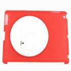Protective PC Back Case Stand Holder for Ipad 4 - Red + White