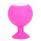 Mini Silicone Suction Cup Holder Speaker for Iphone / Ipad  - Deep Pink