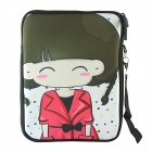 Universal Cartoon Girl Pattern Tablet PC Protective Sleeve for 10.1 inch Tablet PC - Multicolored