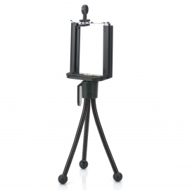 Rotatable Adjustable TrIPOD Holder Stand for Camera, Cellphone - Black