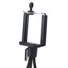 Rotatable Mini Adjustable PP + Stainless Steel Tripod Holder Stand for Camera / Mobile Phone - Black
