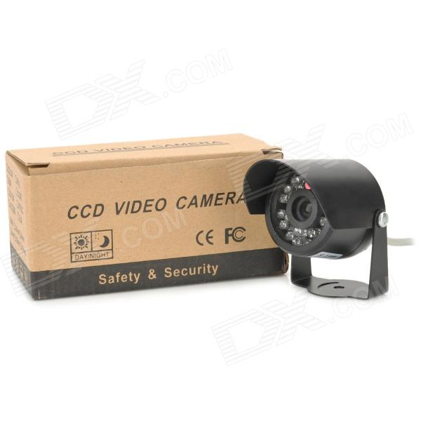 Color CMOS Surveillance Security Camera with 23-LED IR Night Vision - NTSC (12V DC) mini cmos surveillance security camera with 24 led night vision black dc 12v