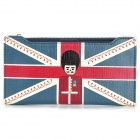 Women's Fashionable The Union Jack Pattern Inwrought PU Purse / Wallet - Sapphire Blue + Red + White