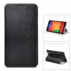 Azns Stylish Protective PU Leather Case for Samsung Galaxy Note 3 - Black