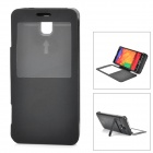 """5500mAh"" External Battery Charger w/ Display Window Case for Samsung Galaxy Note 3 N9000 - Black"