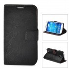 FLOWER SHOW Stylish Protective PU Leather Case for Samsung Galaxy S4 i9500 - Black