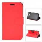 FLOWER SHOW Stylish Protective PU Leather Case for Samsung Galaxy i9082 - Red