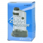 Maifeng MG10081-8 Portable 20~40X Microscope w/ Light - Silver + Black (3 x AG12)