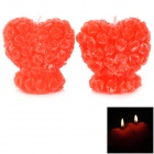 Double Heart Shaped Romantic Decoration Candle - Red