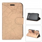 Flower Show Protective PU Leather Case for Samsung Galaxy Grand DUOS / i9082 - Beige