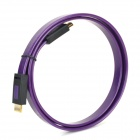 ULT HDMI 1.4 Male to Male Flat Connecting Cable - Deep Purple + Black (100cm)
