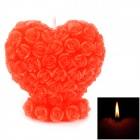 Heart Shaped Romantic Decoration Candle - Red