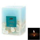 Square Shape Shells Style Aromatic Candle - Blue
