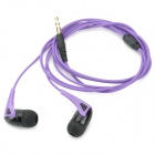 HSL-240 Universal 3.5mm Plug In-Ear Earphone w/ Microphone - Black + Purple