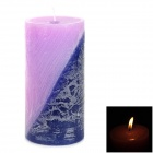 Cylinder Aromatic Candle - Purple + Light Purple (Lavender Scent)