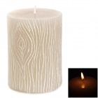 Wood Grain Pattern Cylinder Aromatic Candle - Grey