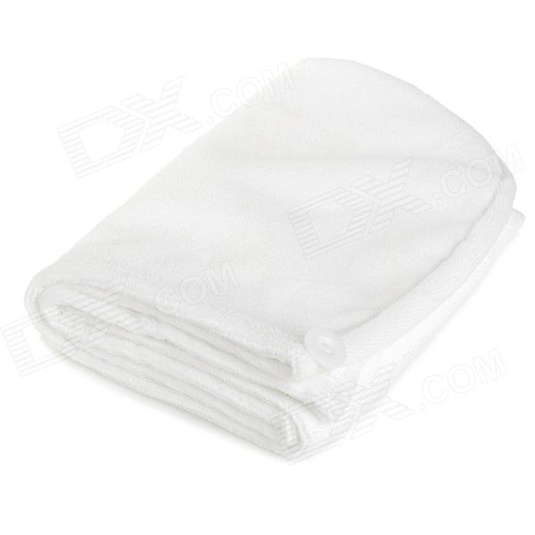 LX-9001 Microfiber Hair Drying Towel Hat Shower Cap - White