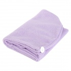 LX-9001 Microfiber Hair Drying Towel Hat Shower Cap - Purple
