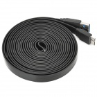 USB Male to Micro 9-Pin Male Data Charging Cable for Samsung Galaxy Note 3 N9000 - Black (300cm)