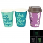 9-LED White Light Cup Cover Lamp w/ 390ml Paper Cups (3 x AAA)