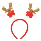 ET-01 Kid's Cute Antler Style Plastic Cloth Hair Band - Red + Brown