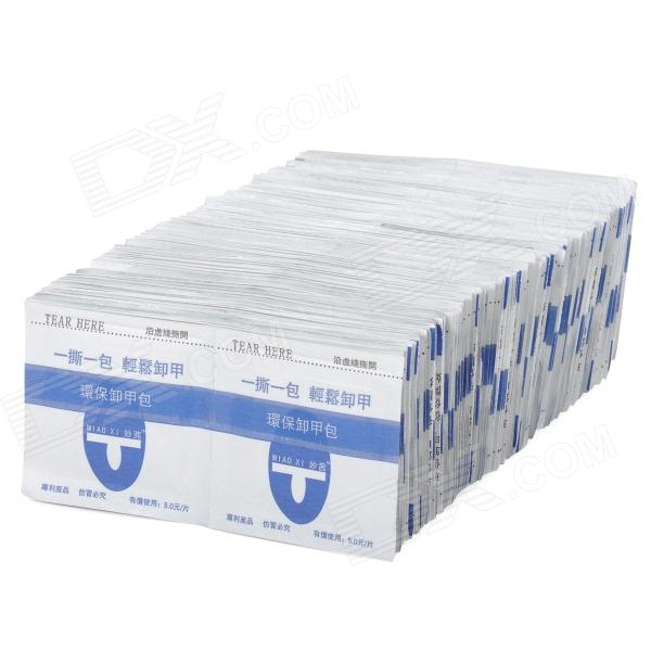 MIAO XI SSYY-001 Professional Disposable Acrylic UV Gel Remover - White + Blue (200 PCS)