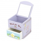 TCY8388 Mini Cute Wood Jewelry Storage Case - Light Purple