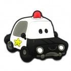 5.5 x 3.8cm Creative Fridge Magnet / Toy Police Car Magnet Blackboard Sticker - Black + White
