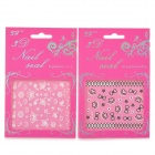 XF187194 3D Cute Patterns Nail Art Decoration Stickers - White + Black (2 PCS)