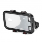 ABS + Silicone Car / Bike Cellphone Holder w/ Case for Samsung S4 + More - Black + Transparent
