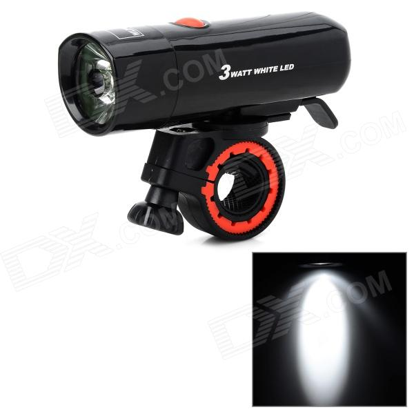 WILDWOLF YT-M18 100LM Cycling Front LED Flashlight for Bicycle - Black (4 x AAA)