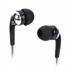 HSL-270 Universal 3.5mm Plug In-Ear MP3 Earphone - Black + Purple