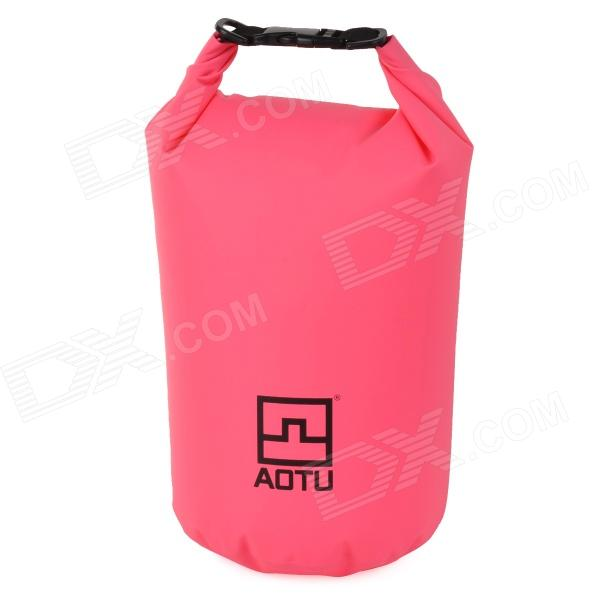 Aotu 801 Outdoor Drifting Waterproof 500D PVC Clothes Storage Bag - Pink (10L) windtour multifunction outdoor waterproof drifting bag storage bag yellow 33l