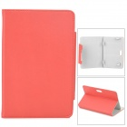 "Stylish PU Leather Magnetic Closure Case for 7"" Tablet PC - Red"