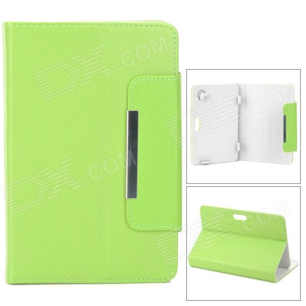 Stylish PU Leather Magnetic Closure Case for 7 Tablet PC - Green universal 61 key bluetooth keyboard w pu leather case for 7 8 tablet pc black