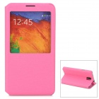 Protective PU Leather Case w/ Display Window for Samsung Galaxy Note 3 / N7200 - Deep Pink