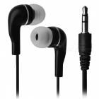 HSL-300 3.5mm Plug Hi-Fi In-Ear MP3 Earphone - Black + Silver