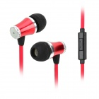 HY-HS6300 3.5mm Plug In-Ear Earphone w/ Microphone - Red + Black