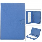 "USB 83-Key Keyboard w/ PU Leather Case for 10"" Tablet PC - Deep Blue"