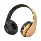 KC-5012 Headband Bluetooth V3.0 Stereo MP3 Headphone w/ FM / TF / Mic / Mini USB - Black + Golden