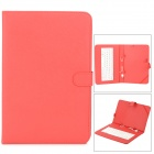 "USB 83 Keys Keyboard PU Leather Case for 10"" Tablet PC - Red"