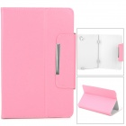 "Stylish PU Leather Magnetic Closure Case for 9"" Tablet PC - Pink"