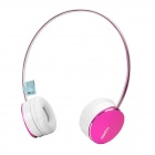 Rapoo S500 Bluetooth V4.0 Over the Ear Headphone w/ Microphone / Micro USB - Purple + White