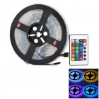 60W 4200lm 300-5050 SMD LED RGB Flexible Decoration Stripe Lamp w/ 24-Key Controller (5m / 100~240V)