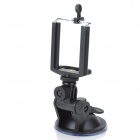 Universal Car Mount Holder w / Ventosa para Iphone / Samsung / HTC - Preto